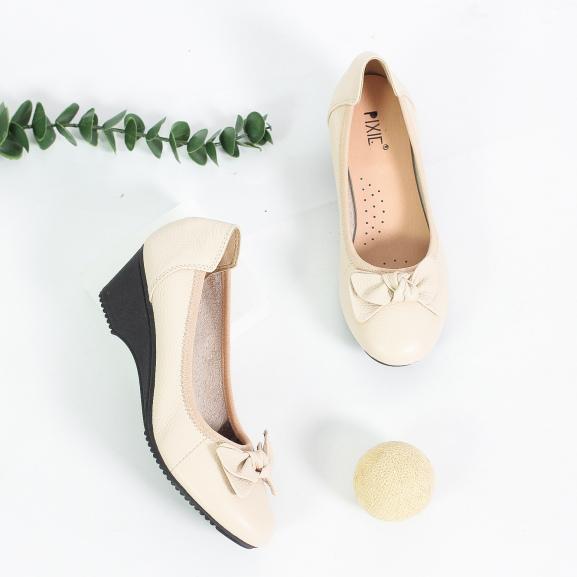 Giày Búp Bê Đế Xuồng 3cm Da Thật Êm Chân Pixie X461 giá rẻ