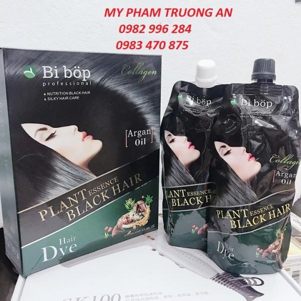 Nhuộm mẫu mới- Thuốc nhuộm tóc đen phủ bạc bibop
