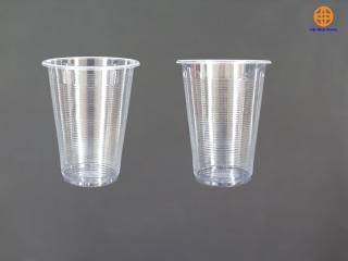 1 cốc nhựa dùng 1 lần 500ml kèm nắp phẳng thumbnail