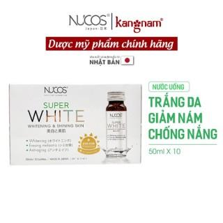 Nước uống trắng da giảm nám chống nắng Nucos super white 50ml x 10 chai, công dụng nuôi dưỡng và duy trì làn da trắng sáng, đều màu thumbnail