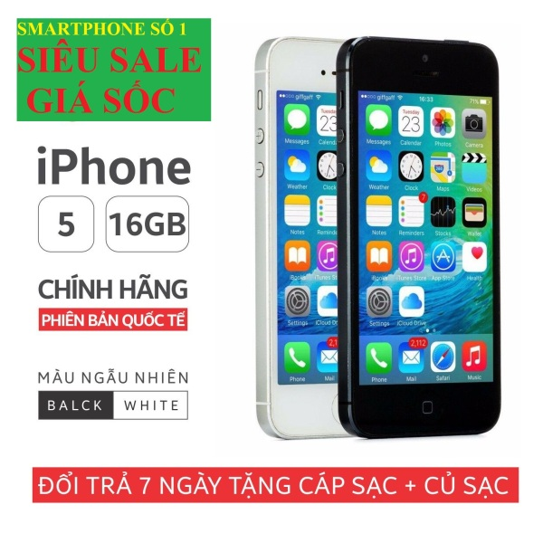 điện thoại Iphone5 16G Chính Hãng - bản Quốc tế