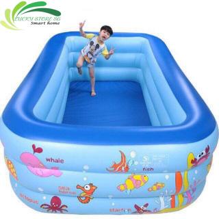 Bể Bơi Phao Trẻ Em 3 Tầng bể bơi cho bé 2m1cm x 140cm x 55cm và 1m8x1m35x55cm, bể phao bơi người lớn, bể bơi khổng lồ Họa Tiết Nghộ Nghĩnh, bể bơi phao đại dương, bể bơi gia đình thumbnail