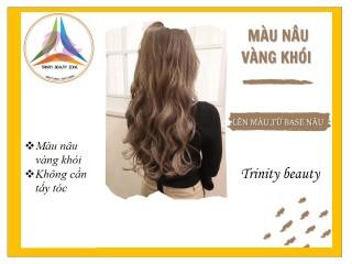 Thuốc nhuộm tóc hàn màu NÂU VÀNG KHÓI tặng kèm oxy+lược+gang tay thumbnail