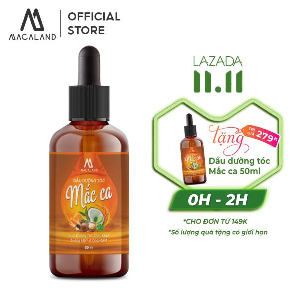 Dầu dưỡng tóc Macadamia 30ml MACALAND giúp nuôi dưỡng mái tóc bồng bềnh và chắc khỏe giảm gãy rụng giá rẻ