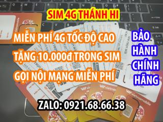 Sim 4G Thánh Hi Vietnamobile Giá Rẻ - Tặng ngay 10k vào tài khoản - Tặng thêm data 4g tốc độ cao 30Gb tháng thumbnail