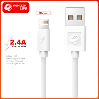 Dây sạc iPhone Micro Type C giá rẻ nguồn điện 2.4A chất liệu nhựa tốt dài 1 mét chính hãng FENGZHI LIFE X100 thích hợp cho nhiều dòng máy Samsung OPPO Vivo HUAWEI XIAOMi cáp siêu bền thumbnail