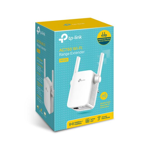 Bảng giá Bộ mở rộng sóng Wi-Fi AC750 TP-Link RE205 Phong Vũ