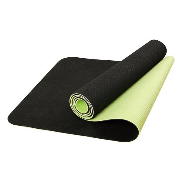 Thảm Tập Yoga Eco Friendly Tpe - Xanh Lá Đen (6Mm)
