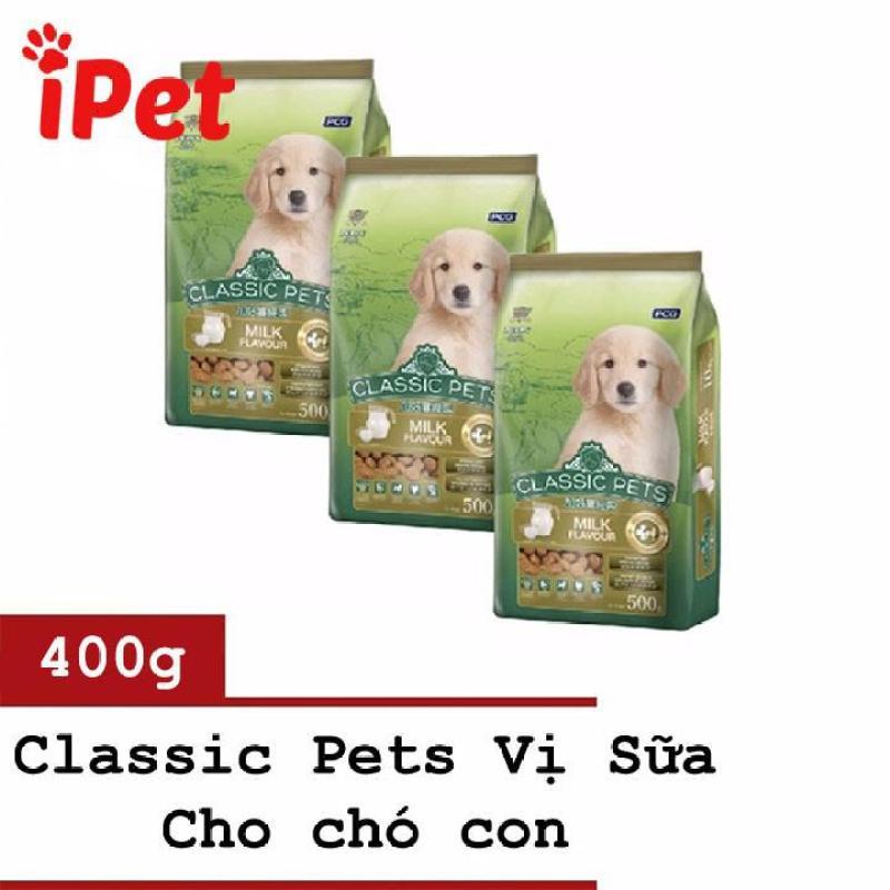 Thức Ăn Cho Chó Nhỏ Hạt Khô Vị Sữa Classic Puppy 400g - iPet Shop