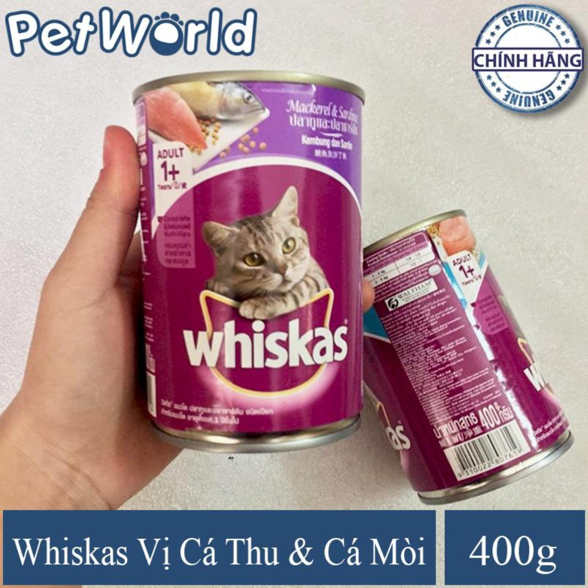 Thức Ăn Dành Cho Mèo Lớn/ Mèo Trưởng Thành -  Whiskas Vị Cá Biển - Dạng Lon 400g Siêu Khuyến Mại