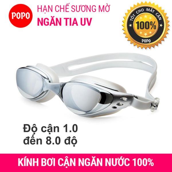 Kính bơi cận 610 độ cận 1.5 độ đến 8.0 độ, kính bơi cho người cận thị mắt kính chống UV, chống sương mờ 610Bac