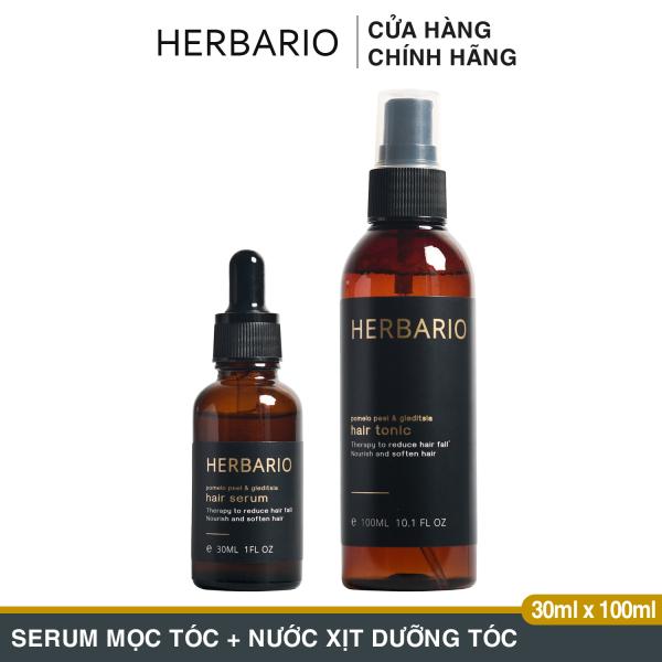 Bộ nước dưỡng tóc vỏ bưởi & bồ kết 100ml + serum tinh chất vỏ bưởi và bồ kết 30ml, (pomelo peel & gleditsia) Giảm rụng tóc, giúp mọc tóc dài nhanh, Giúp mọc tóc dày và đen