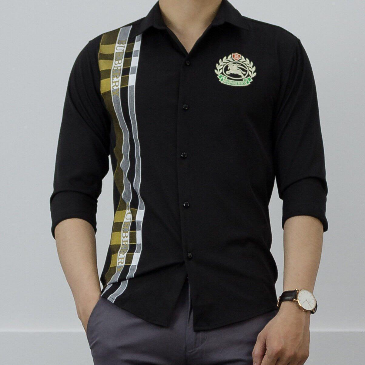 áo sơ mi nam burberry phong cách trẻ trung mới nhất năm