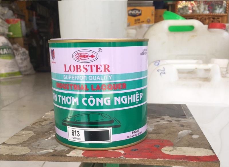 Sơn thơm công nghiệp Lobster màu đen mờ lon 800ml