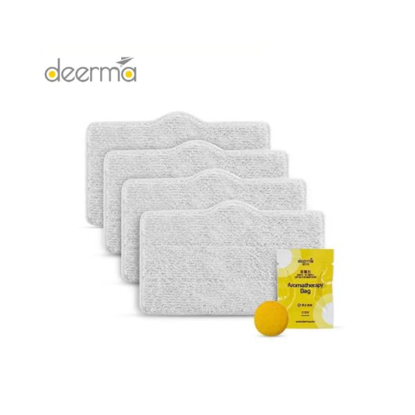 Bộ 4 khăn và 1 viên thơm cho máy vệ sinh hơi nước Xiaomi Deerma ZQ600/610