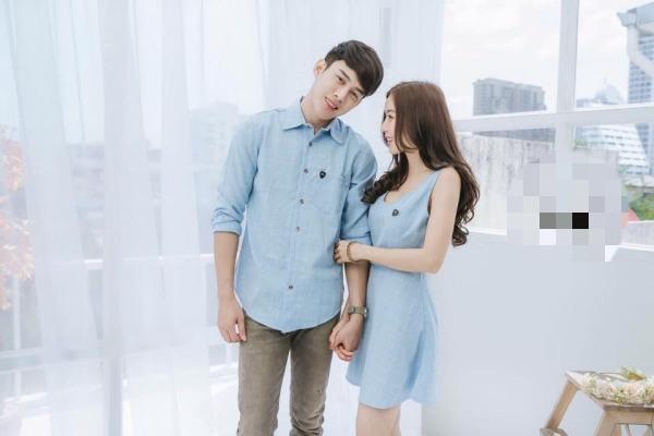 đồ đôi áo sơ mi nam với đầm váy nữ siêu dễ thương vải bao đẹp-shop chuyên thiết kế các mẫu đồ đôi hót nhất