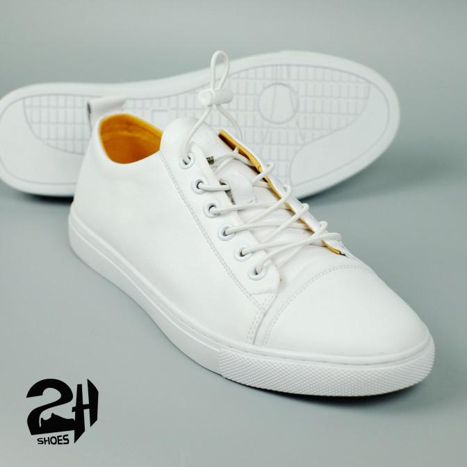 Giày nam snecker, thể thao da bò, phong cách hàn quốc 3 màu đen, xanh, trắng  SHOES 2H 2H- 69 giá rẻ