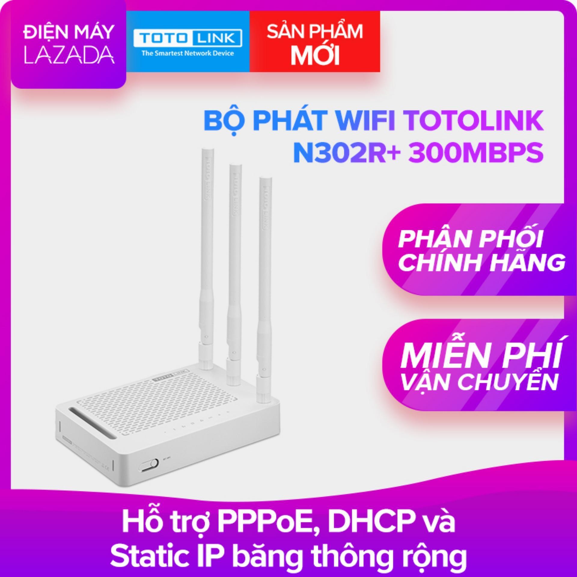 Bộ phát wifi Totolink N302R+ 300Mbps (Trắng) - Hãng phân phối chính thức