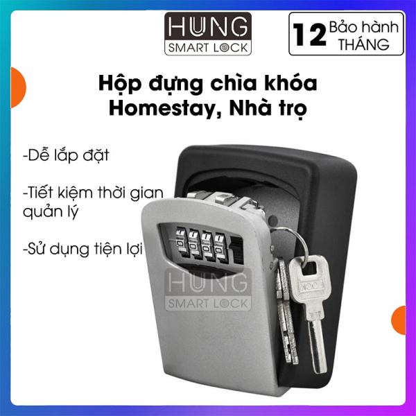 Hộp đựng chìa khóa Lockbox - Sử dụng mã số - Bảo vệ chìa khóa - Thuận tiện sử dụng - Lắp đặt dễ dàng - Lock box cho homestay - Quản lý từ xa - Bảo hành 12 tháng