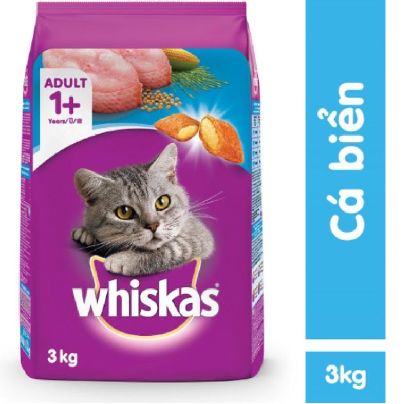 Thức Ăn Mèo Vị Cá Biển Whiskas (3Kg)