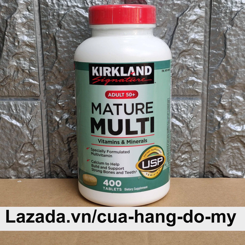 Viên uống bổ sung Vitamin Kirkland Mature Multi 400 viên cho người trên 50 tuổi giúp tăng sức đề kháng Mỹ nhập khẩu