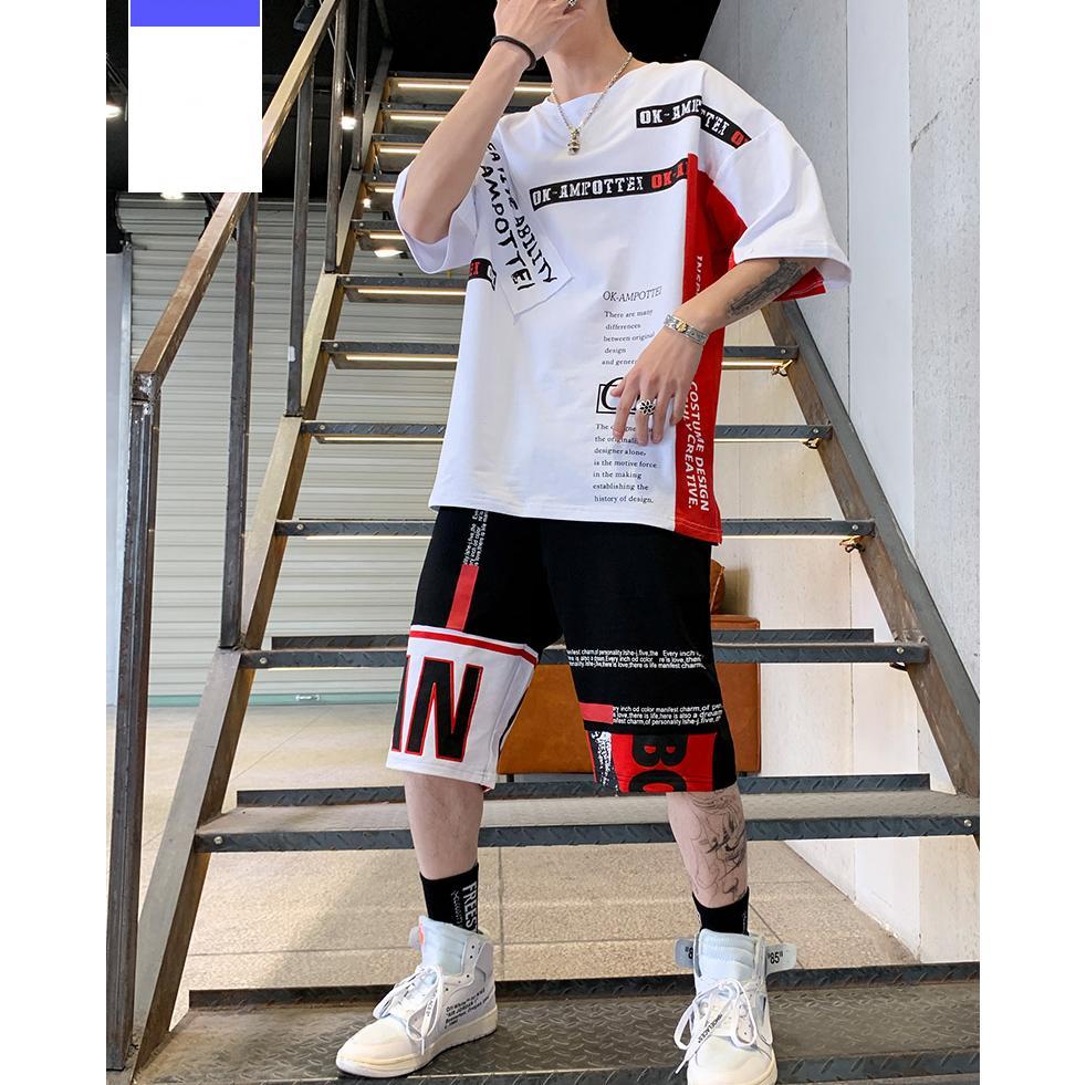 Bộ Quần Áo Thun Nam Tay Ngắn Quần Short Đùi CREATIVE Thời Trang Sành Điệu SoYoung MEN QA 037 Nhật Bản