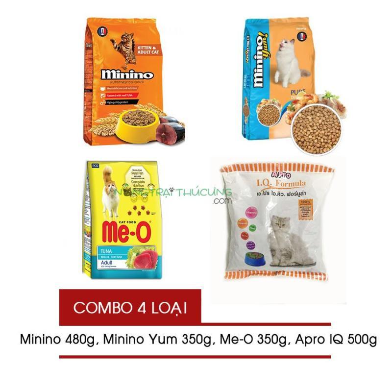 [COMBO 4 LOẠI] Thức ăn cho Mèo - Mix thức ăn Mèo không ngán - [Nông Trại Thú Cưng]