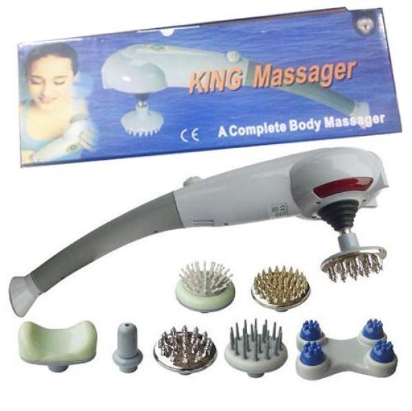 Máy massage toàn thân cầm tay hồng ngoại 7 đầu đa năng KING MASSAGER