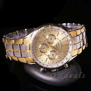 Đồng hồ nam dây thép đúc đặc chính hiệu Rosra, khóa bướm cao cấp, tặng kèm hộp và pin, bảo hành 1 năm thumbnail