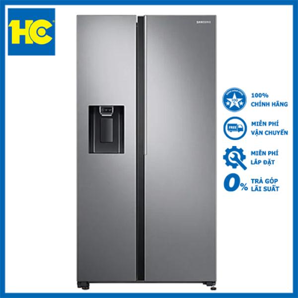 Tủ lạnh Side by side Samsung SBS RS64R5101SL/SV 660L, công nghệ Inverter, lấy nước bên ngoài, công nghệ làm lạnh vòm, ngăn đa năng Flexzon