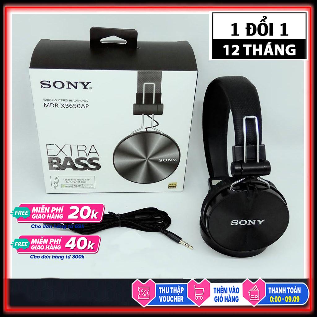 Tai nghe chụp tai có mic giá rẻ Extra Bass XB650AP- tai nghe over ear chơi game có mic đàm thoại nghe nhạc bass hay- genkstore