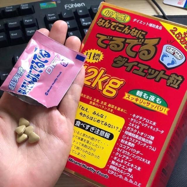 Viên Uống Giảm Cân 12kg Của Nhật Deru Deru Diet NHẬT BẢN nhập khẩu