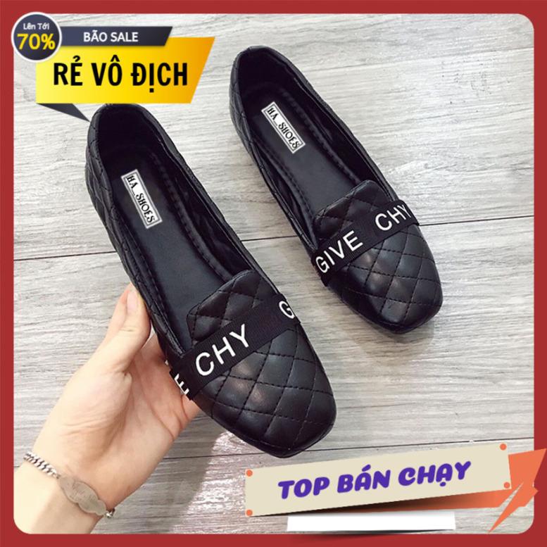 Giày đế bệt trần chỉ GIVE giày búp bê giày nữ giá rẻ giày nữ công sở giày xăng đan nữ giá rẻ