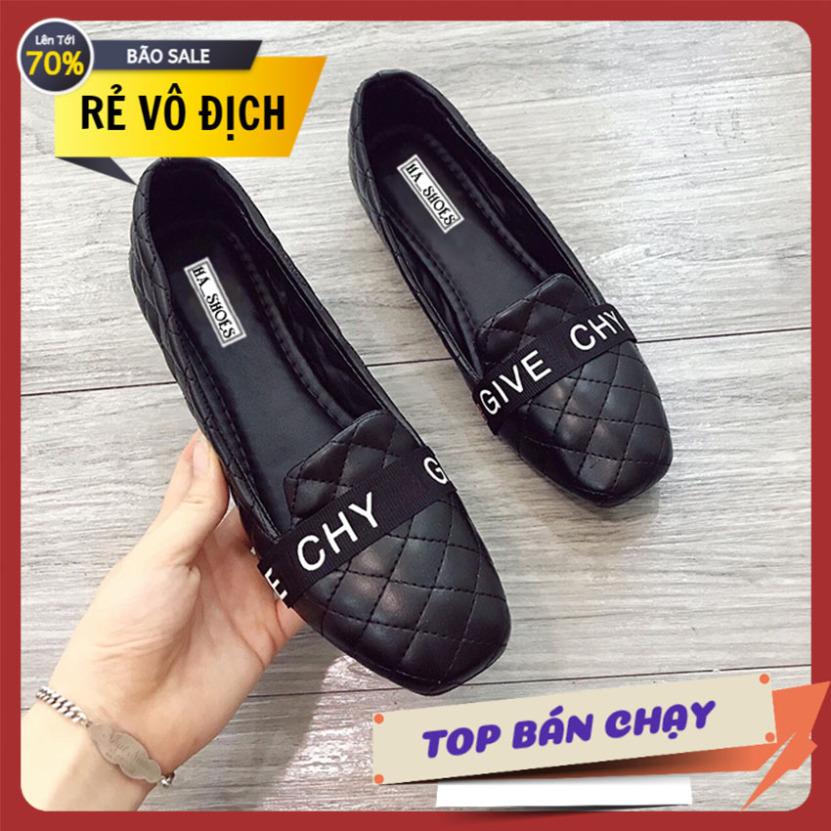 Giày nữ đế bệt GVC trần chỉ êm ái giá rẻ