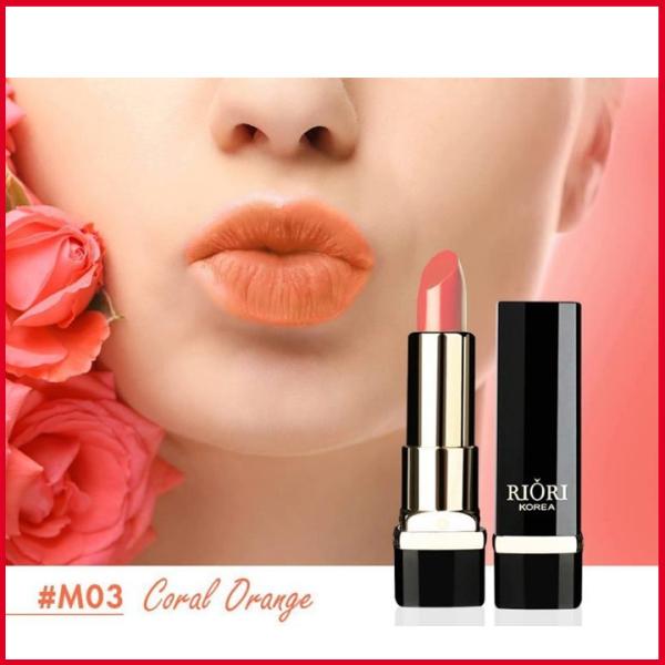 Son lì pha dưỡng lên màu chuẩn, bền màu, lâu trôi không gây khô, thâm môi Hara White Riori Matte Me Lipstick chính hãng có 6 màu son dạng thỏi 3,5g giá rẻ