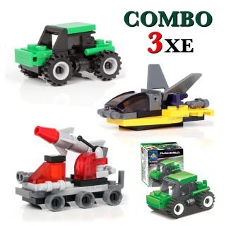 Combo đồ chơi trẻ em 3 xe ô tô xếp hình LEGO CITY từ 27 đến 32 chi tiết nhựa ABS cao cấp cho bé từ 4 tuổi trở lên phát triển trí tuệ và sáng tạo thumbnail