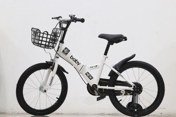 Phân phối Xe đạp gấp cho bé 5-8 tuổi 18 inch màu trắng