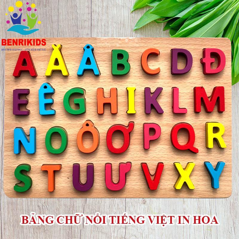 Bảng Tiếng Việt In Hoa Bằng Gỗ Benrikid An Toàn...