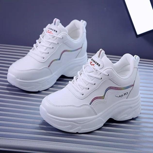 Giày thể thao nữ độn đế kim tuyến mã 100, giày sneaker nữ thoáng khí hot trend 2021 giá rẻ
