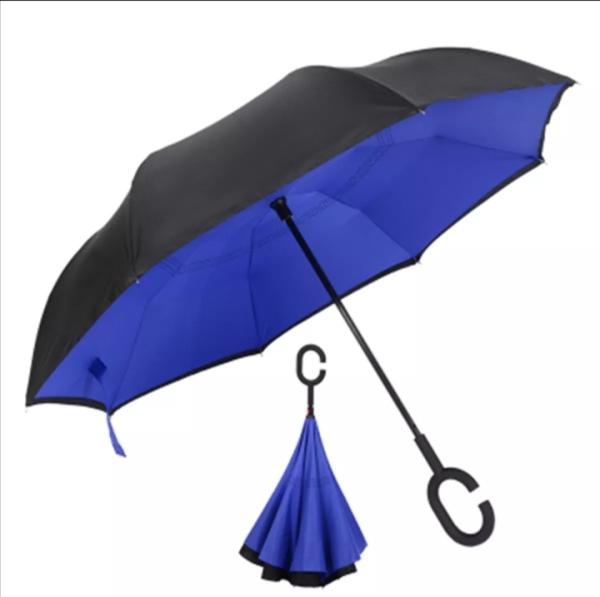 Giá bán Ô gấp ngược. Dù đi mưa gấp ngược thông minh. Dùng cho ô tô và đi bộ. Đường kính 120cm