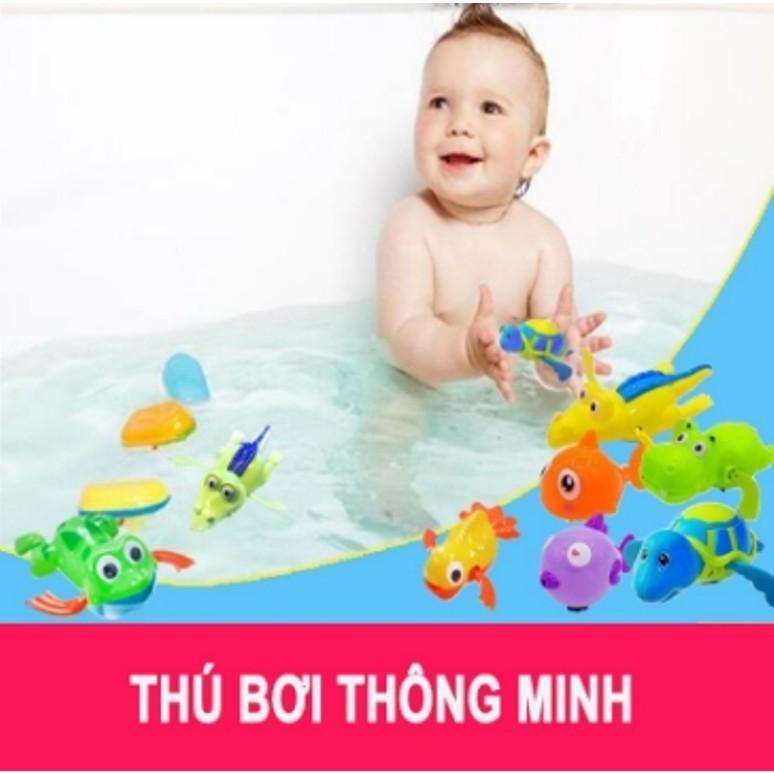 COMBO 3 Con Đồ chơi thú bơi trong nước khi...