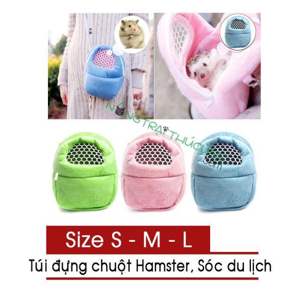 Túi đựng chuột Hamster, Bọ, Sóc du lịch êm ái, thoáng khí - Nhiều size - [Nông Trại Thú Cưng]