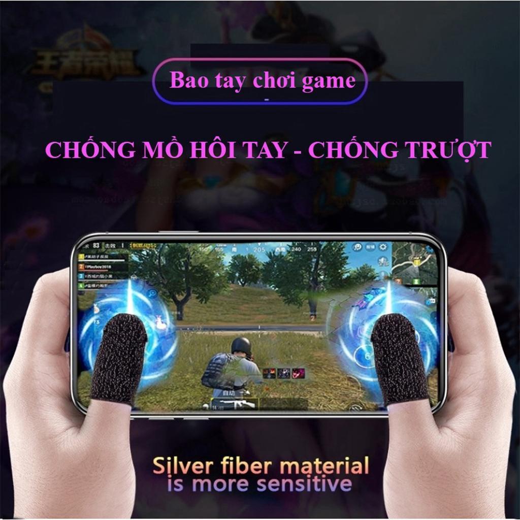 [MẪU MỚI] Bộ bao 2 ngón tay chuyên dụng chơi game mobile chống ra mồ hôi tay, chất liệu sợi carbon thoáng mát, cảm ứng cực nhạy, độ co giãn cao