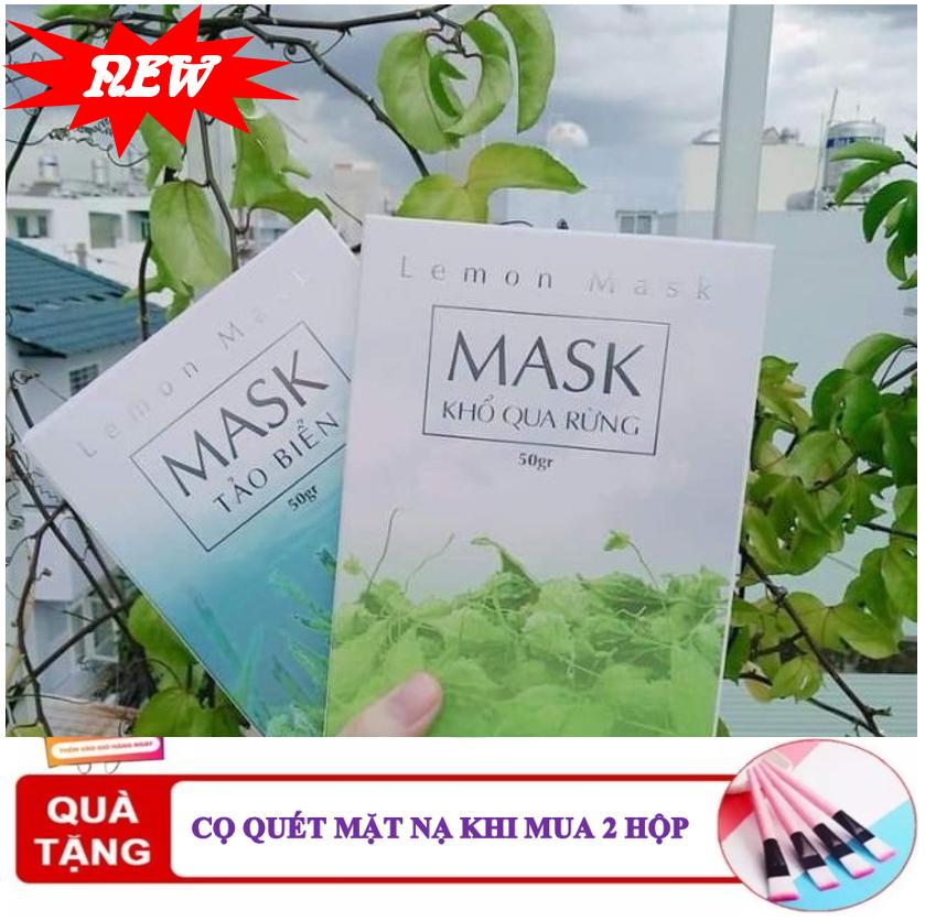 Mặt Nạ Thiên Nhiên Lemon Beauty - Mặt Nạ Khổ Qua Rừng Lemon Mask - Mặt Nạ Tảo Biển Lemon Mask - 50 Gram ( Tặng 1 Cọ Quét Mặt Nạ Khi Mua 2 Mask & Que Trộn Mask ) Đang Khuyến Mại Khủng