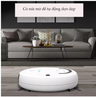 Máy Lau Sạch Bụi Bẩn Tự Động Phát Hiện khi gặp các vật cản Dễ Dàng Làm Sạch Các Vị Trí Khó Như Gầm Giường Tủ Robot Vận Hành Êm Ái ko có tiếng ồn . thumbnail