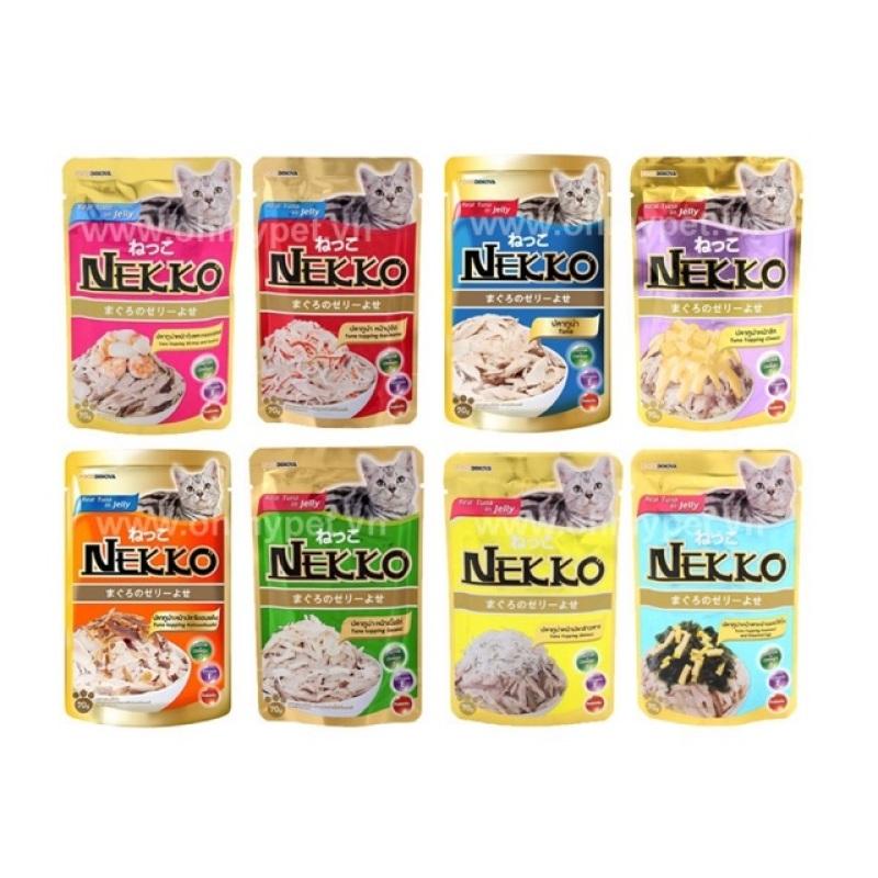 12 gói thức ăn cho mèo NEKKO JELLY 70g (mix vị ngẫu nhiên)