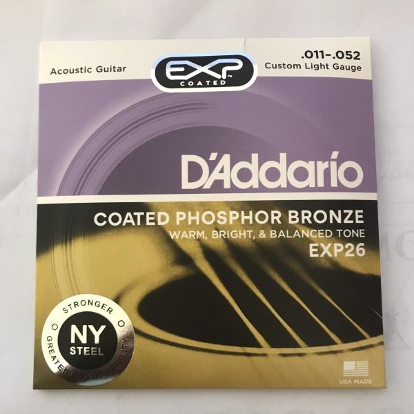Dây đàn Guitar Acoustic DAddario exp26 Dây cỡ 11, giúp tiếng của cây đàn vang to