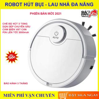Robot hút bụi lau nhà thông minh, Robot hút bụi lau nhà đa năng, Pin trâu, lực hút siêu khỏe, Tự cảm biến, Chống va đập, Dễ dàng làm sạch các vị trí khó trong nhà như gầm giường, gầm tủ...Bảo hành 1 đổi 1, Mua ngay. thumbnail