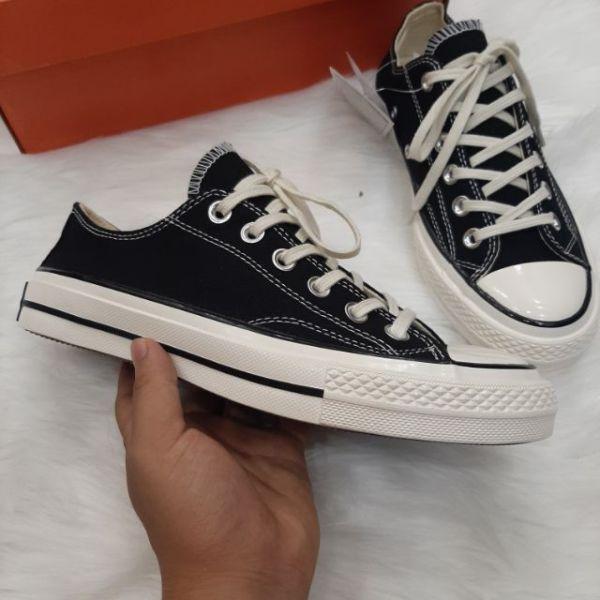 Giày Converse  Đen Thấp Cổ Nam Nữ, giày thể thao nam nữ đầy đủ tem/mác/bill [ẢNH THẬT + FULLBOX]