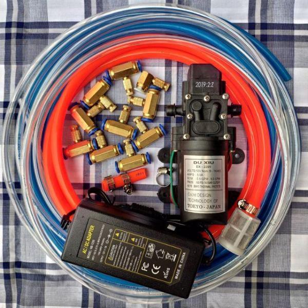 Combo máy phun sương giá rẻ 8béc-15m dây- lọc nước
